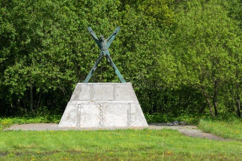 Monumento al santo di Andrew dell'apostolo Primo chiamato fotografia stock libera da diritti