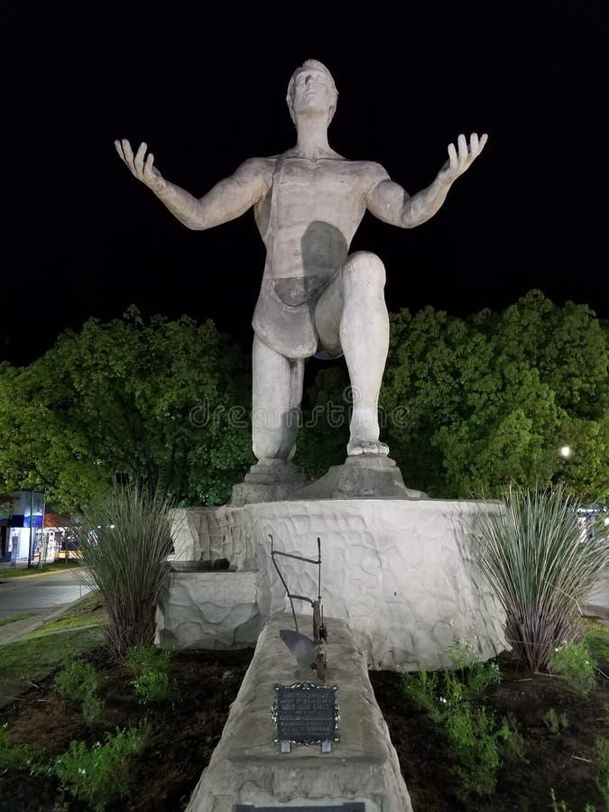 Monumento al sembrador en el chalet Elisa Village, provincia de Entre Rios foto de archivo libre de regalías
