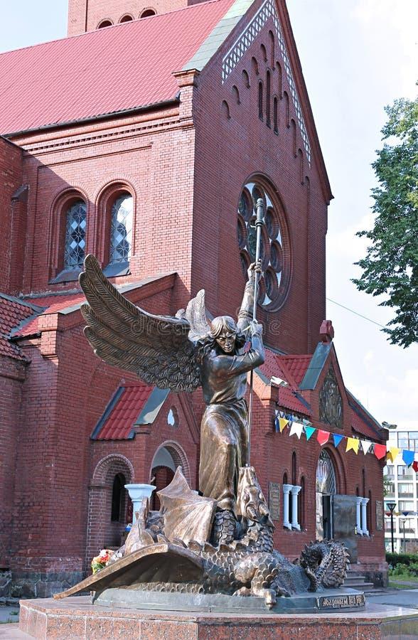 Monumento al serpente di Michael Shatterspear di arcangelo fotografia stock