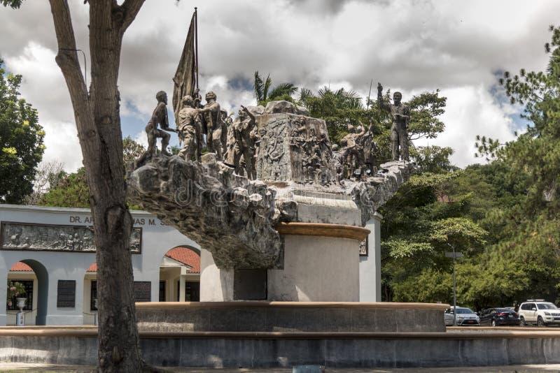 Monumento alDr Arnulfo Arias Panama City Panama royaltyfria bilder