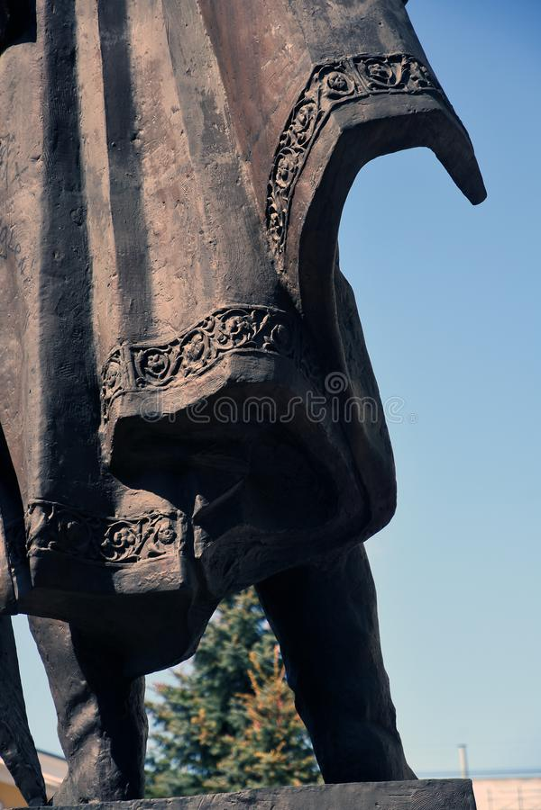 Monumento a Alexander Nevsky en Vladimir, Rusia fotografía de archivo libre de regalías