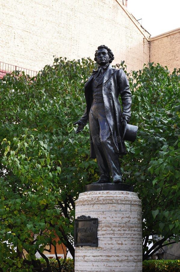 Monumento a Alexandr Pushkin fotos de archivo