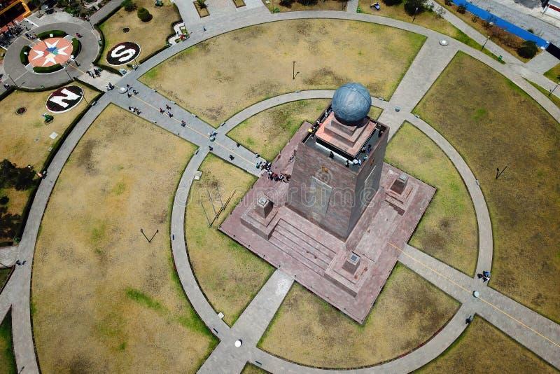 Monumento all'Equatore, Ecuador immagini stock libere da diritti