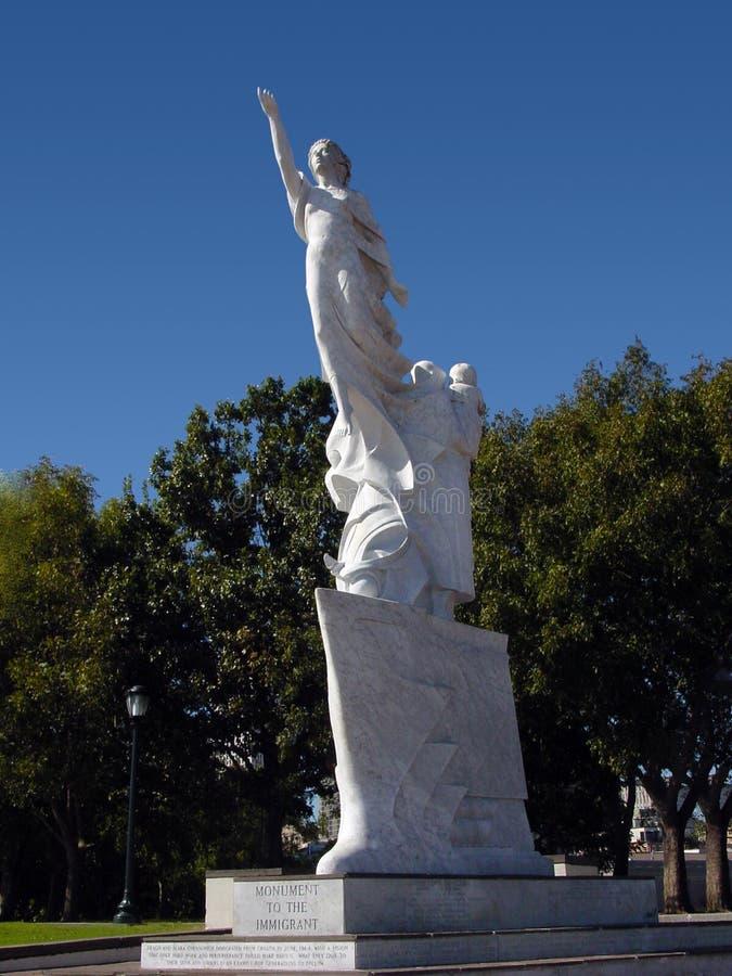 Monumento all'immigrante immagini stock libere da diritti