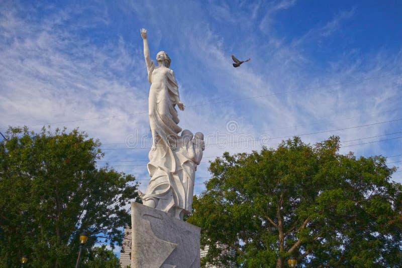 Monumento all'immigrante immagine stock
