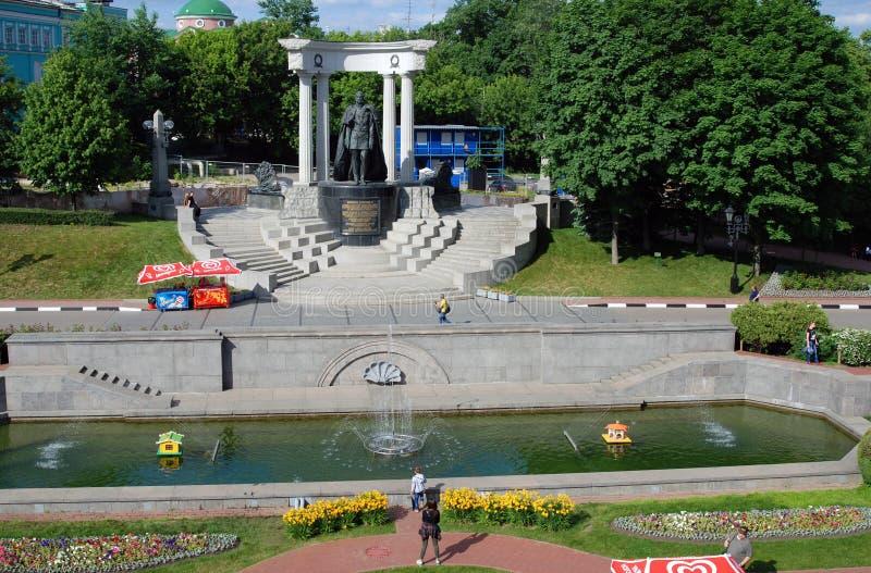 Monumento all'imperatore russo Alexander Second a Mosca fotografie stock libere da diritti
