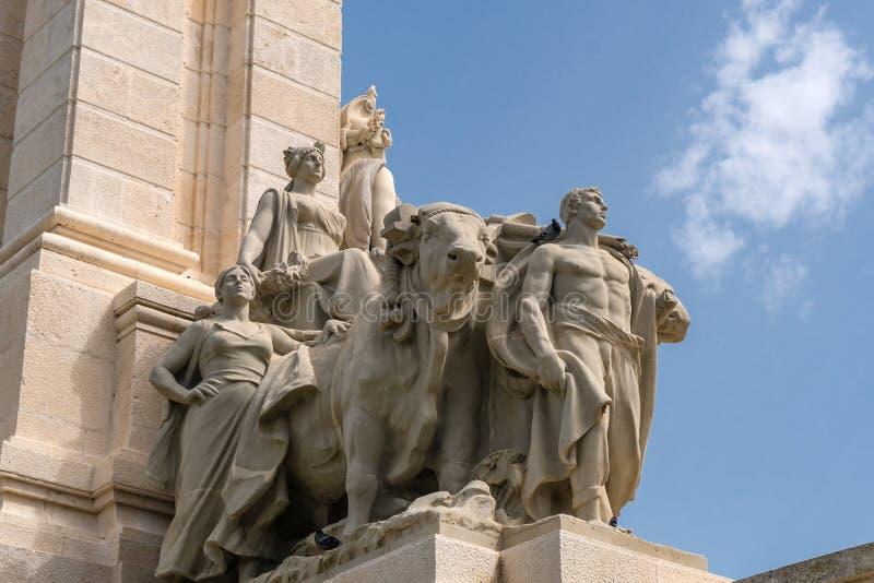 Monumento alla costituzione di 1812 a Cadice fotografia stock