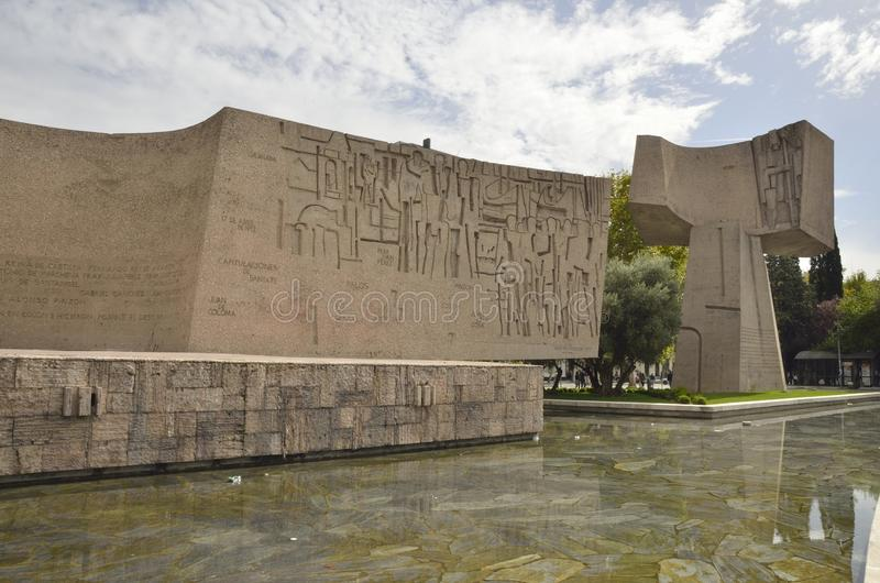 Monumento alla scoperta dell'America fotografie stock libere da diritti