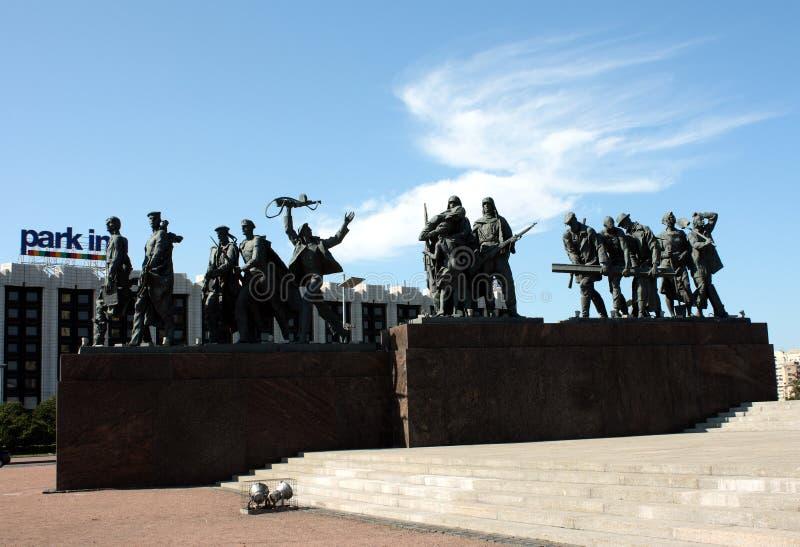 Monumento alle protezioni di Leningrado fotografie stock libere da diritti