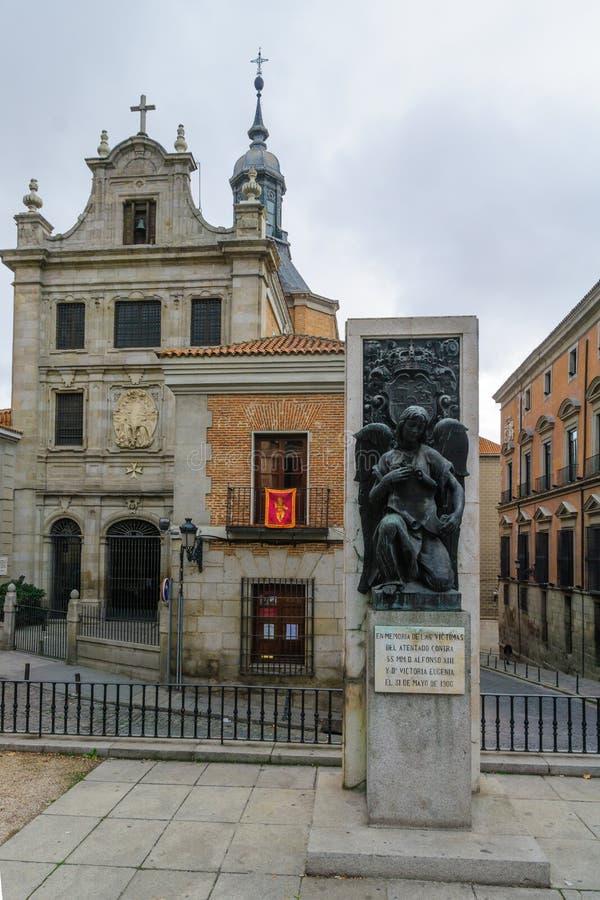 Monumento alle vittime dell'attacco contro Alfonso XIII, Madrid fotografia stock