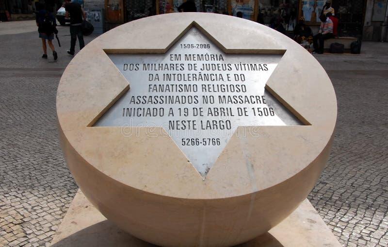 Monumento alle vittime di pogrom ebreo immagine stock