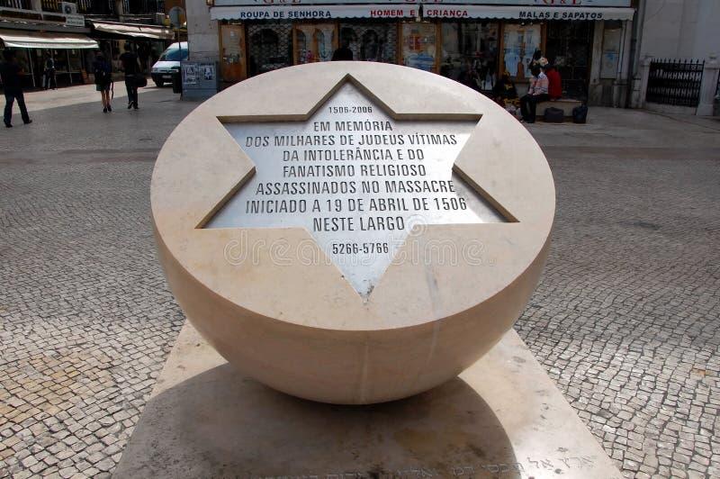 Monumento alle vittime di pogrom ebreo immagini stock