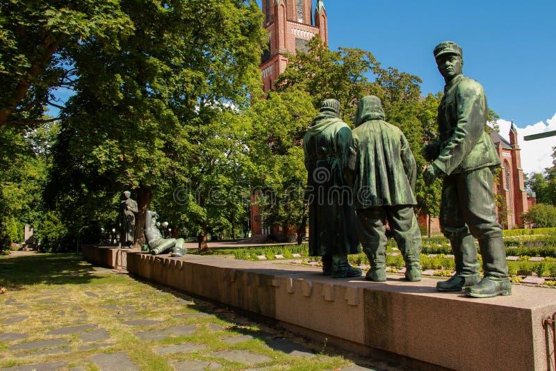 """Monumento ao †finlandês dos soldados """"os participantes da ?a guerra mundial imagens de stock royalty free"""