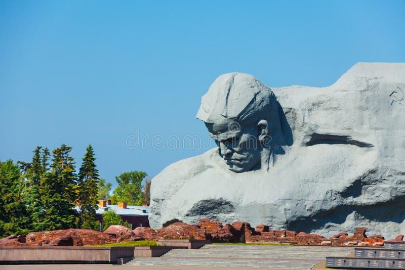 Monumento ao corajoso, fortaleza da guerra de Bresta, Bielorrússia imagem de stock royalty free