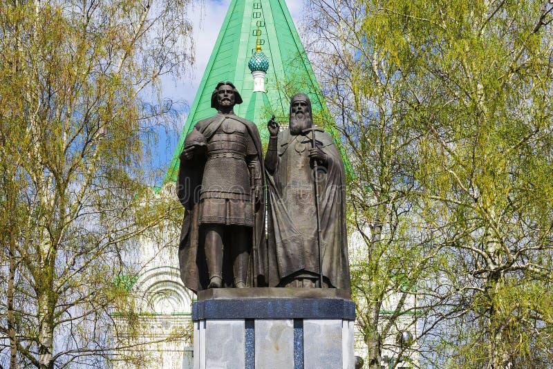 Monumento ao fundador de Nizhny Novgorod - George Vsevolodovic fotos de stock