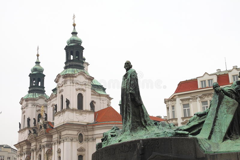 Download Monumento Ao Guss De Janeiro Em Uma área Em Praga Imagem de Stock - Imagem de herói, naturalize: 29825285