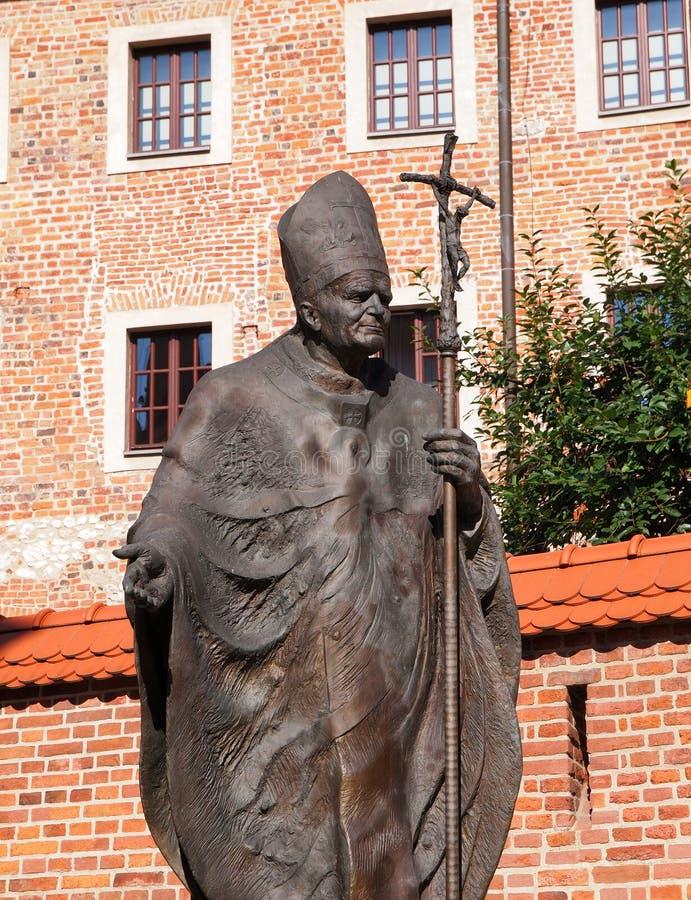 Monumento ao papa John Paul II imagem de stock