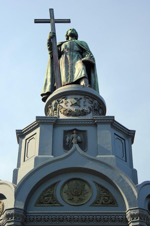 Monumento ao príncipe Volodymyr de Saint em Kiev, Ucrânia imagens de stock