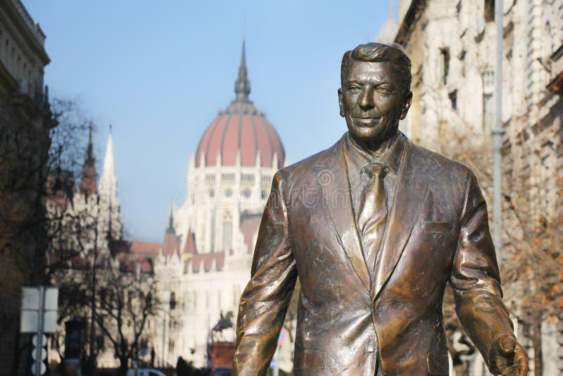 Monumento ao presidente dos EUA Ronald Reagan imagem de stock royalty free