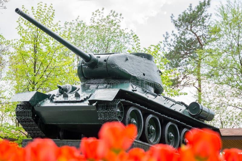 Monumento ao tanque T34 fotografia de stock royalty free