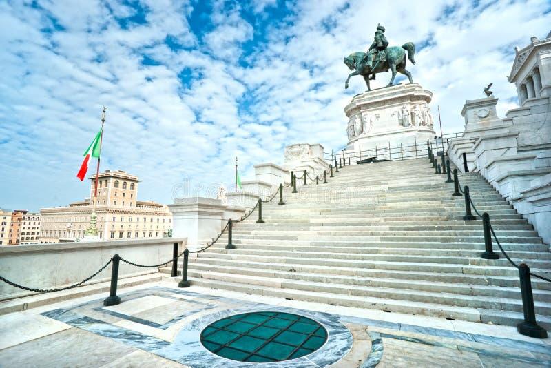 Monumento ao vencedor Emmanuel II, Roma, Italy foto de stock royalty free