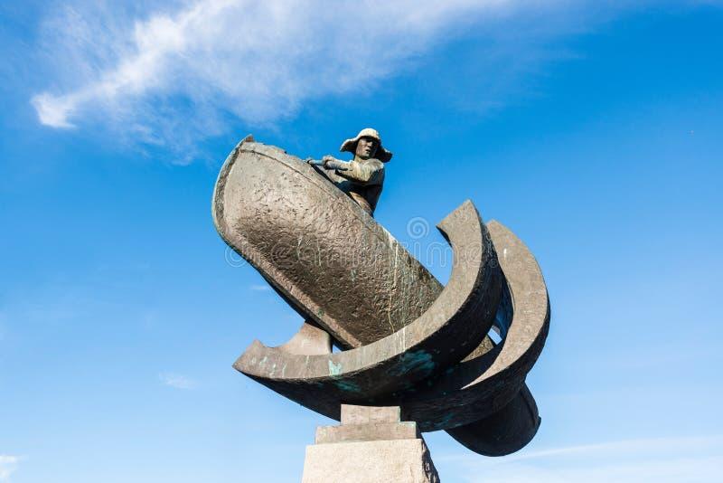 Monumento aos caçadores da baleia em Tromso, Noruega imagem de stock royalty free