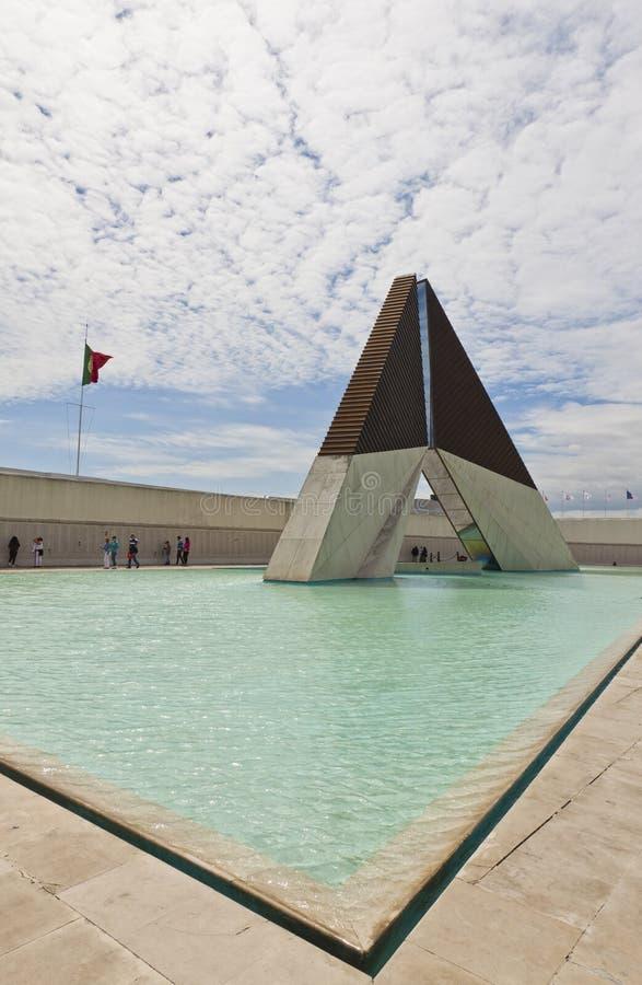 Monumento aos lutadores no ultramar em Lisboa, Portugal imagem de stock