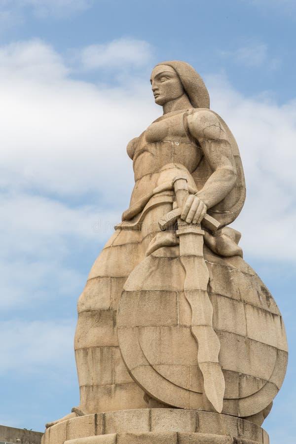 Monumento AOS Mortos DA I großes Guerra Maputo Mosambik lizenzfreies stockfoto
