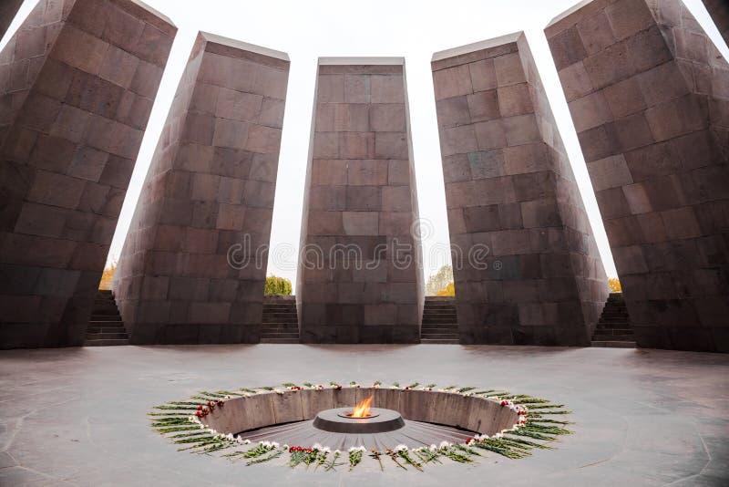 Monumento armenio del genocidio foto de archivo
