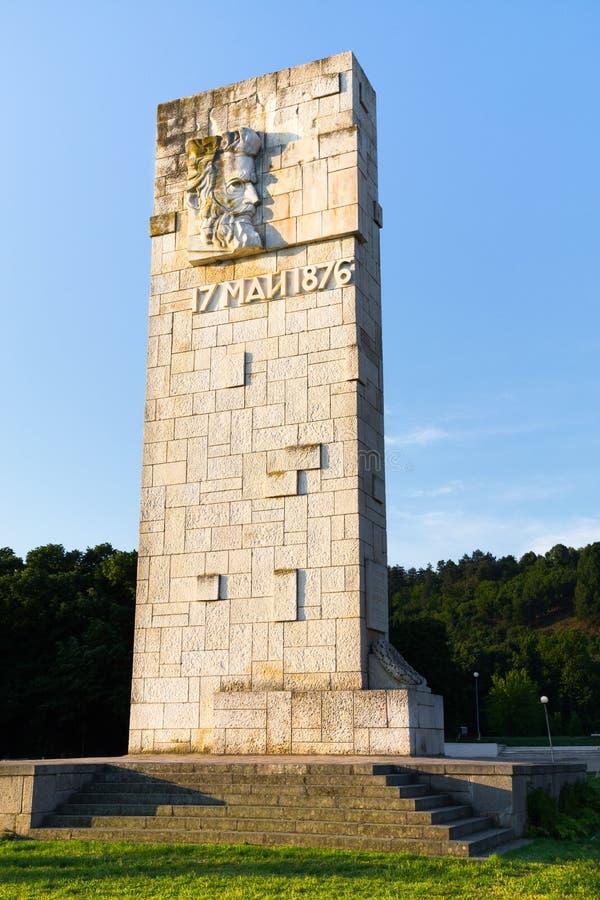 Monumento búlgaro de Hristo Botev do herói nacional, Kozloduy, Bulgari foto de stock