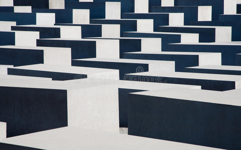 Monumento Berlín del holocausto imagen de archivo libre de regalías