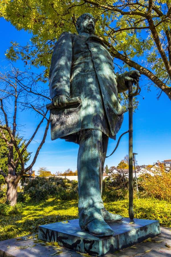 Monumento a Bismarck em Dueren, Alemanha fotos de stock royalty free