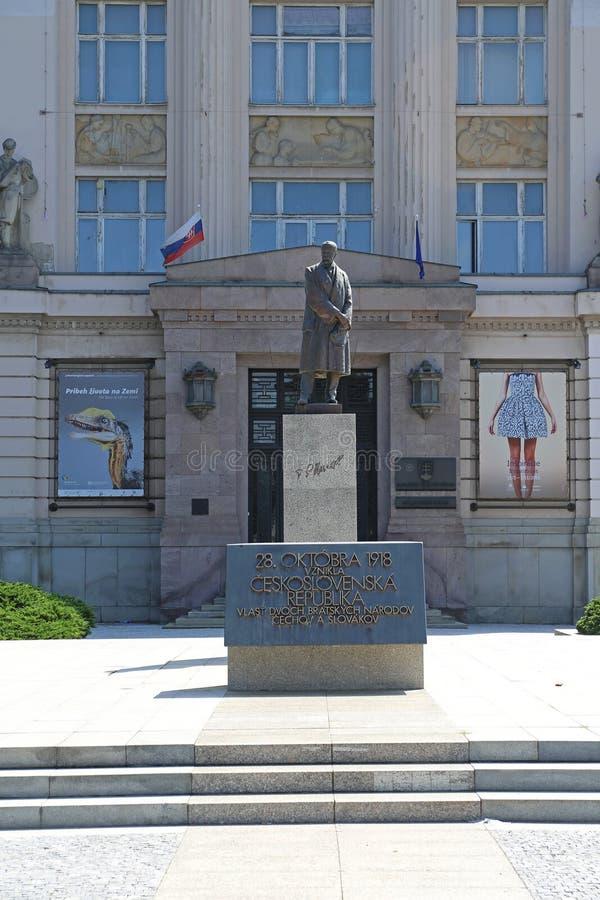 Monumento Bratislava de Masaryk fotos de archivo libres de regalías