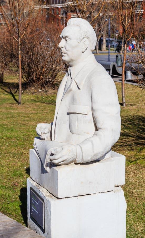 Monumento a Brezhnev Parque de ` de Museon del ` de los artes Moscú, fotografía de archivo
