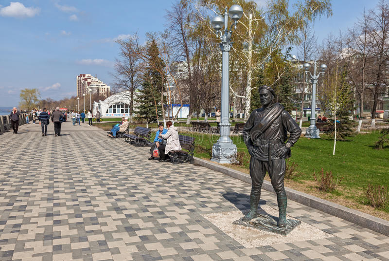 Monumento a camarada Sukhov foto de archivo