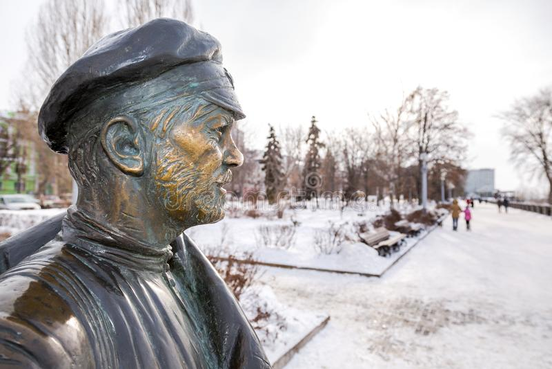 Monumento a camarada Sukhov, el carácter principal de la película imagen de archivo