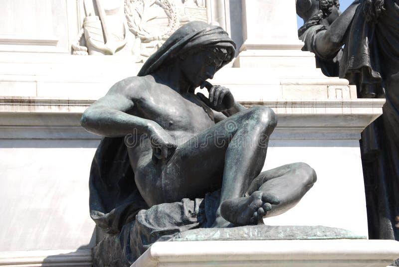 Monumento a Camillo Benso di Cavour na praça Cavour, Roma, Itália fotografia de stock royalty free