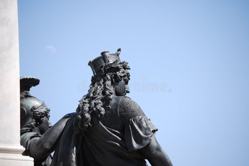 Monumento a Camillo Benso di Cavour na praça Cavour, Roma, Itália imagem de stock