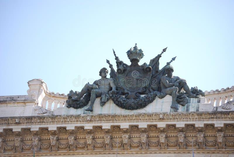 Monumento a Camillo Benso di Cavour na praça Cavour, Roma, Itália fotos de stock royalty free