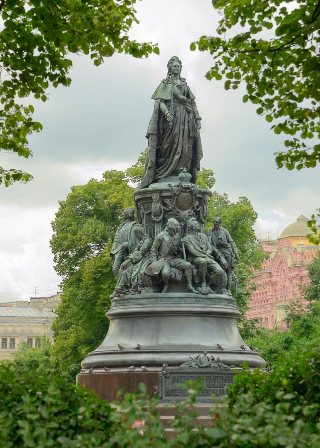 Monumento a Catherine The Great foto de stock royalty free