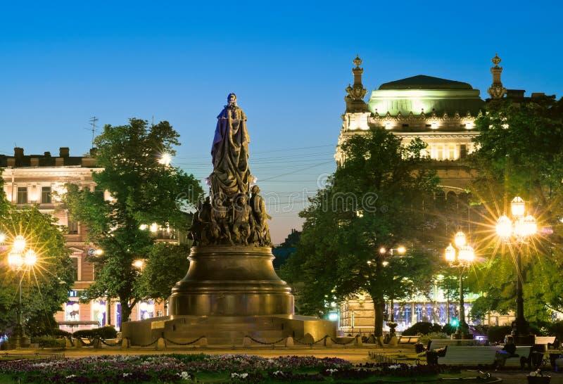 Monumento a Catherine The Great immagine stock libera da diritti