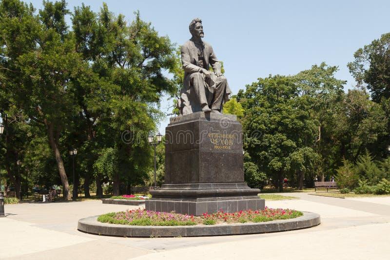 Monumento a Chekhov A P fotografía de archivo