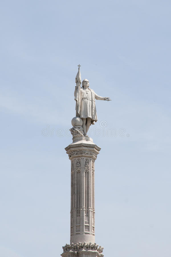 Monumento Christopher Columbus - Madrid - in Spagna immagine stock