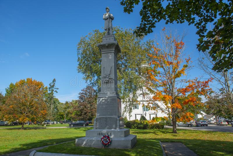 Monumento commemorativo in Merrimack New Hampshire, U.S.A. immagini stock