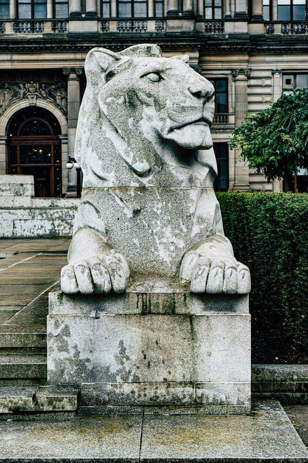Monumento conmemorativo de la guerra en el centro de la ciudad de Glasgow foto de archivo