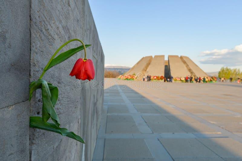 Monumento conmemorativo del genocidio armenio, en Erev?n fotos de archivo libres de regalías