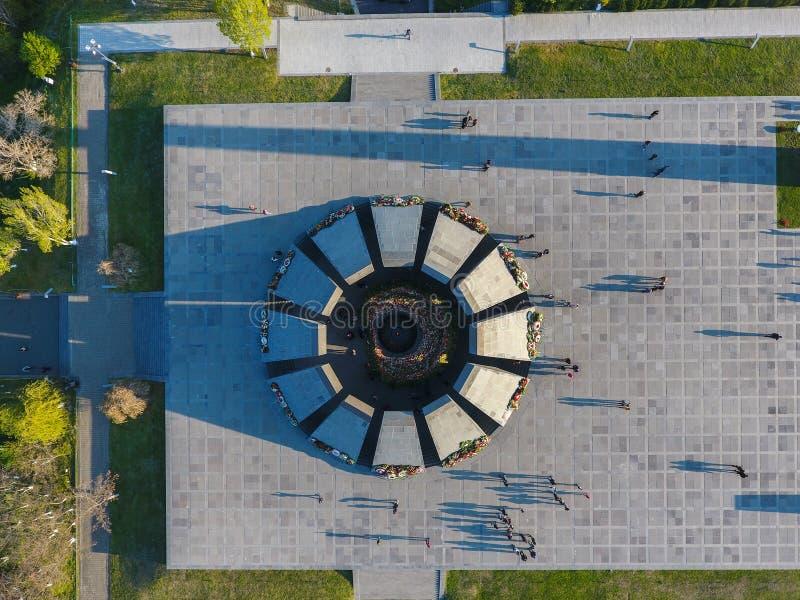 Monumento conmemorativo del genocidio armenio, en Erev?n fotografía de archivo libre de regalías