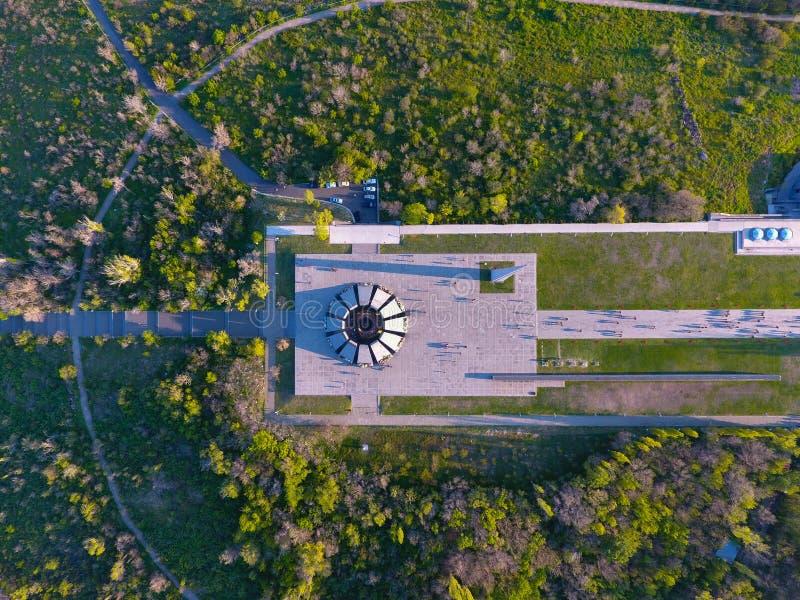 Monumento conmemorativo del genocidio armenio, en Erev?n fotos de archivo