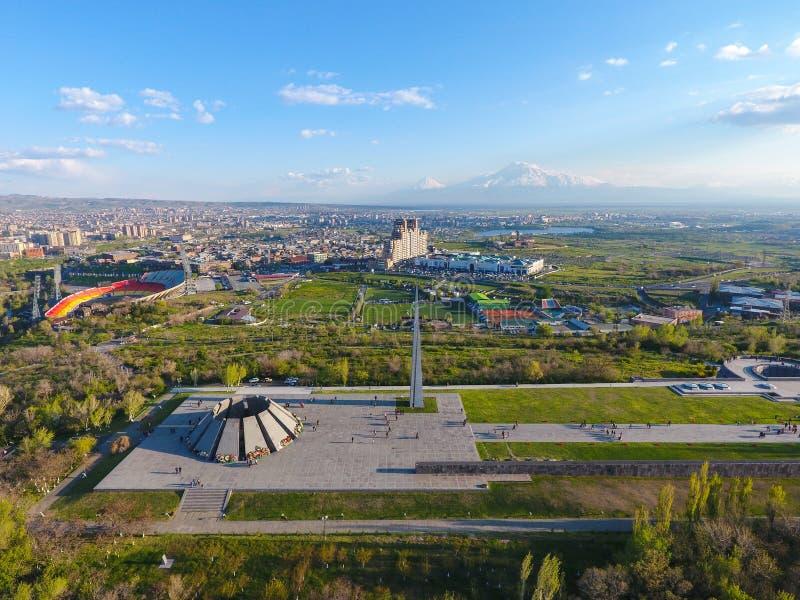 Monumento conmemorativo del genocidio armenio, en Erev?n imagen de archivo libre de regalías
