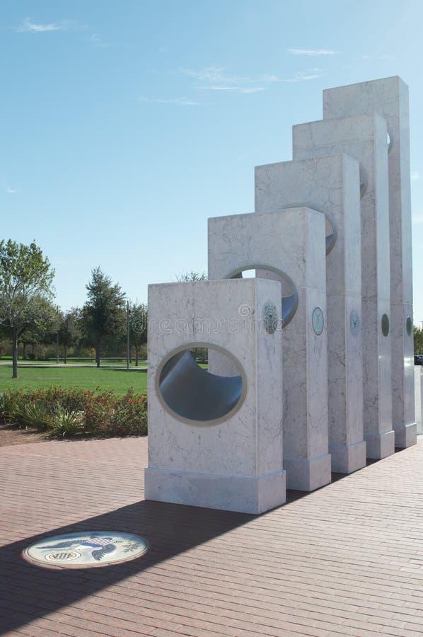 Monumento conmemorativo del ` s del veterano con el sello en el himno, Arizona fotografía de archivo libre de regalías